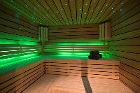 cool sauna at Chalet Sirocco luxury apartment, holiday home, vacation rental