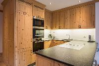 cool modern kitchen of Chalet Shalimar luxury apartment, holiday home, vacation rental