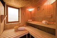 cool sauna at Chalet Shalimar luxury apartment, holiday home, vacation rental