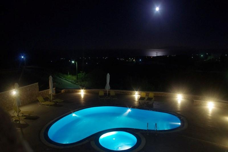 enchanting Santorini Moonlight Long Vista luxury apartment, perfect vacation rental