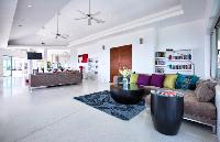 cool living room of Thailand - Baan Bon Khao luxury apartment, holiday home, vacation rental
