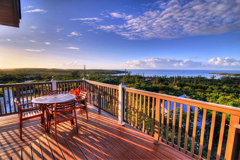 cool terrace of Bahamas - Allamanda Garden Cottage luxury apartment