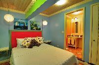 fresh bed sheets in Bahamas - Villa Allamanda Efficiency Suite luxury apartment