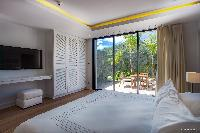 crisp bedroom linens in Barthelemy Estate luxury apartment, holiday home, vacation rental