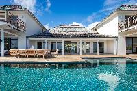 beautiful infinity pool of Barthelemy Estate luxury apartment, holiday home, vacation rental