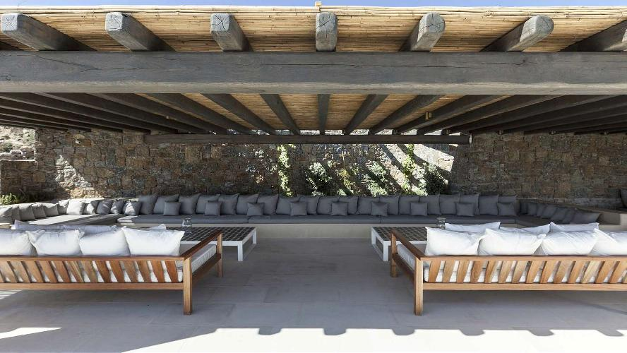 pretty patio of Villa One and Only luxury holiday home and vacation rental