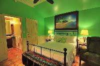 crisp bed sheets in Bahamas - Villa Allamanda Queen Studio B luxury apartment
