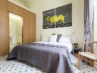 clean and fresh bedroom linens in Barcelona Eixample - Pau Claris Luxury Terrace Apartment 1