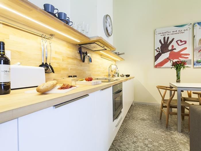 fully furnished Barcelona Eixample - Pau Claris Luxury Terrace Apartment 1