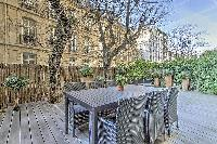 awesome terrace of Passy - Vignes luxury apartment