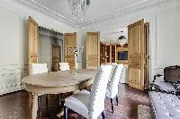 chic dining area in Passy - Vignes luxury apartment