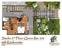 floor plan of Bahamas - Villa Allamanda Twin luxury apartment