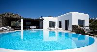 cool swimming pool of Mykonos Villa Estilo luxury holiday home and vacation rental