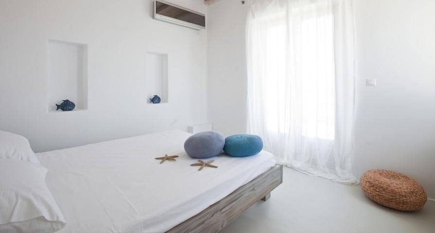 clean bedroom linens in Villa Kalafatis View 2 luxury holiday home and vacation rental