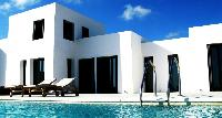 cool swimming pool of Mykonos Villa Karali luxury holiday home and vacation rental