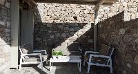 cool patio of Mykonos Villa Light Pearl luxury holiday home and vacation rental