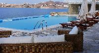 cool infinity pool of Villa Melia Mykonos luxury holiday home and vacation rental