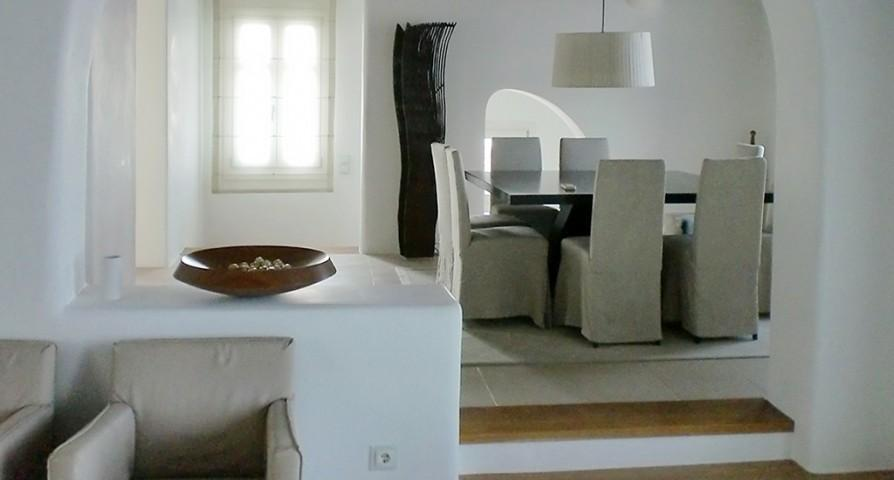 fully furnished Villa Melia Mykonos luxury holiday home and vacation rental