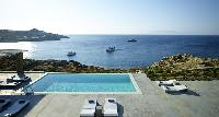 cool poolside of Villa Mermedia luxury holiday home and vacation rental