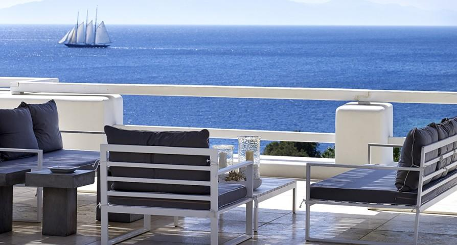 beautiful seafront Villa Mermedia luxury holiday home and vacation rental