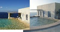cool swimming pool of Mykonos Villa Nest luxury holiday home and vacation rental