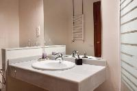 neat and trim toilet and bath in Barcelona - Golden Apartment luxury holiday home and vacation renta