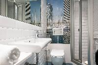 neat and fresh bathroom in Barcelona - Holy Family Tiny Studio 1 luxury apartment with balcony
