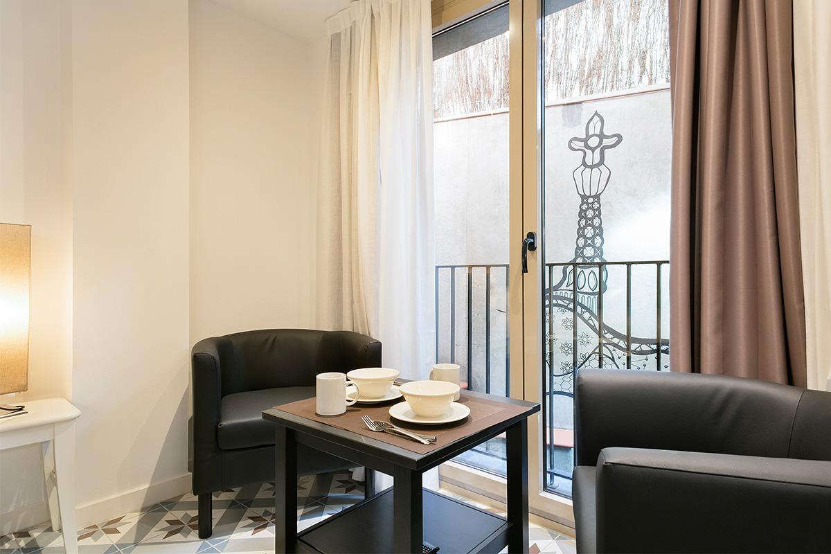 amazing Barcelona - Holy Family Tiny Studio 1 luxury apartment with balcony