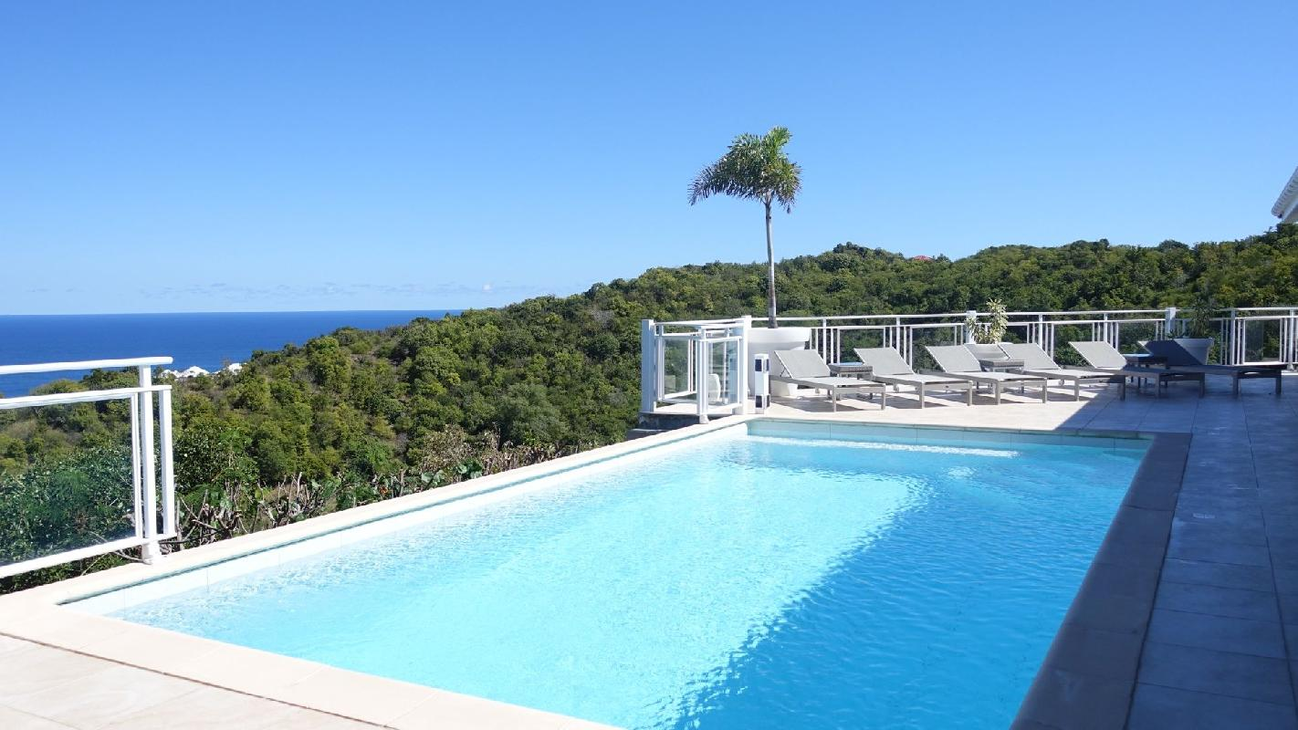 splendid Saint Barth Villa Au Coeur Du Rocher luxury holiday home, vacation rental