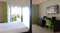 fresh bedroom linens in Saint Barth Villa Au Coeur Du Rocher luxury holiday home, vacation rental