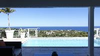 cool swimming pool of Saint Barth Villa Au Coeur Du Rocher luxury holiday home, vacation rental