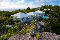 cool aerial view of Saint Barth Villa Byzance luxury holiday home, vacation rental