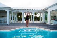 cool swimming pool of Saint Barth Villa Byzance luxury holiday home, vacation rental