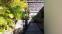 cool garden of Saint Barth Villa Lina luxury holiday home, vacation rental