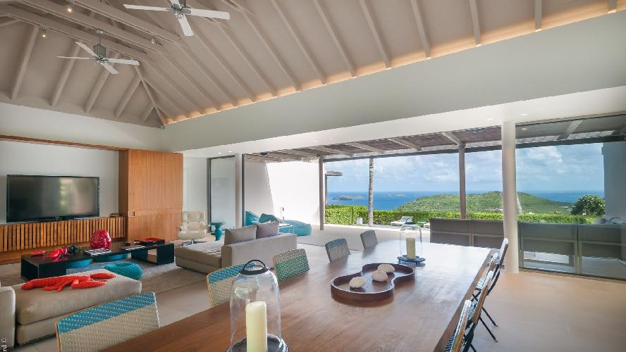 amazing sea view from Saint Barth Villa Lina luxury holiday home, vacation rental