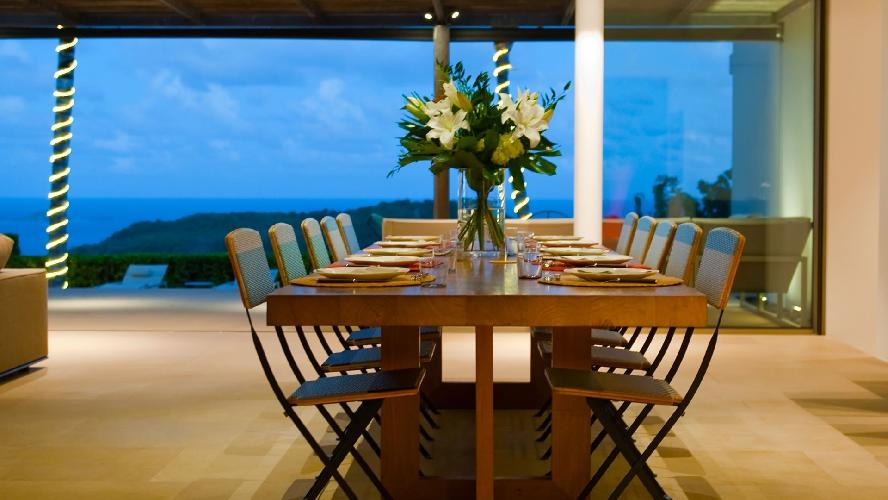 awesome sea view from Saint Barth Villa Lina luxury holiday home, vacation rental