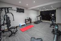 cool gym of Saint Barth Villa Open Space luxury holiday home, vacation rental
