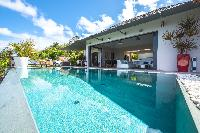 cool swimming pool of Saint Barth Villa Open Space luxury holiday home, vacation rental