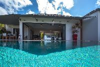 cool poolside of Saint Barth Villa Open Space luxury holiday home, vacation rental