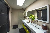 cool rain shower in Saint Barth Villa Open Space luxury holiday home, vacation rental
