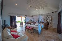 fresh bed sheets in Saint Barth Villa Sea Bird luxury holiday home, vacation rental