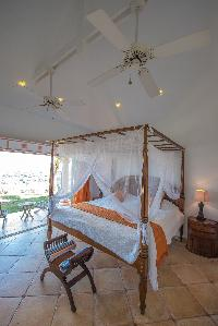clean bedroom linens in Saint Barth Villa Sea Bird luxury holiday home, vacation rental