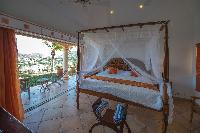 fresh bedroom linens in Saint Barth Villa Sea Bird luxury holiday home, vacation rental