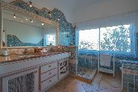 fancy bathroom in Saint Barth Villa Sea Bird luxury holiday home, vacation rental