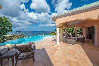 cool swimming pool of Saint Barth Villa Sea Bird luxury holiday home, vacation rental
