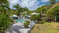 lovely garden of Saint Barth Villa Chloé luxury holiday home, vacation rental