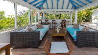 cool gazebo of Saint Barth Villa Chloé luxury holiday home, vacation rental