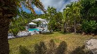 lush garden of Saint Barth Villa Chloé luxury holiday home, vacation rental