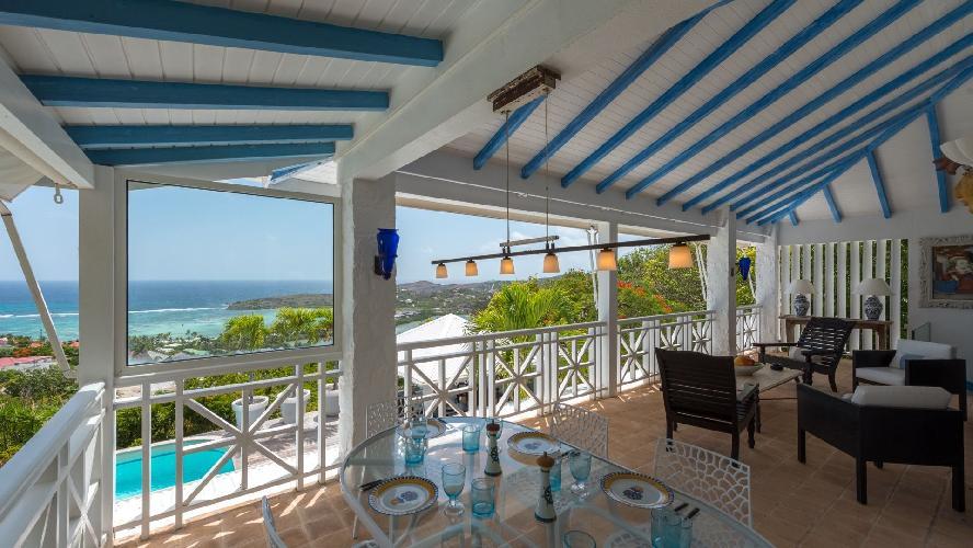 cool lanai of Saint Barth Villa Chloé luxury holiday home, vacation rental