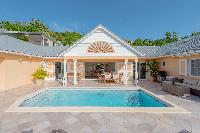cool swimming pool of Saint Barth Villa Les Acajous luxury holiday home, vacation rental